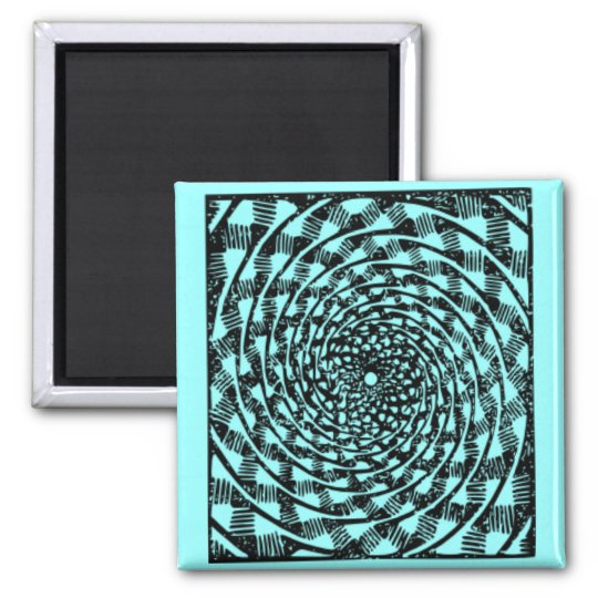 Blue & White Trippy Tunnel Magnet