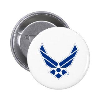 Blue & White United States Air Force Logo 6 Cm Round Badge