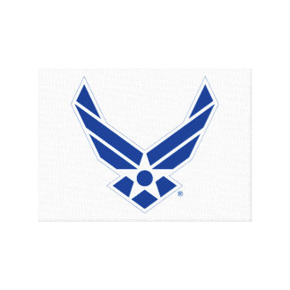 Blue & White United States Air Force Logo Stretched Canvas Prints