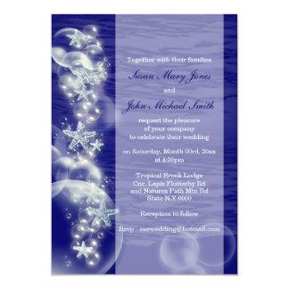 Blue white wedding engagement anniversary 13 cm x 18 cm invitation card