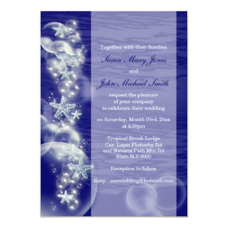 Blue white wedding engagement anniversary card