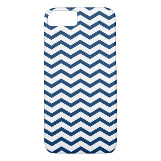 Blue White Zigzag Chevron Pattern iPhone 7 Case