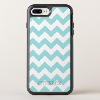 Blue White Zigzag Stripes Chevron Pattern OtterBox Symmetry iPhone 7 Plus Case