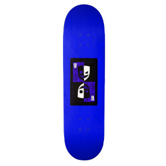 Blue Wilcard Faces Skateboard Deck