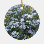 Blue wild Forget-Me-Not flowers Round Ceramic Decoration