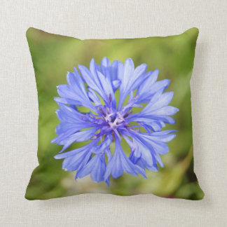 "Blue Wildflower, Throw Pillow 16"" x 16"""
