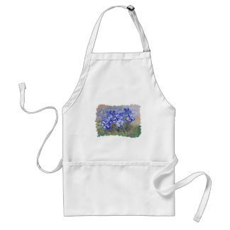 Blue Wildflowers in a Field Fine Art Painting Aprons
