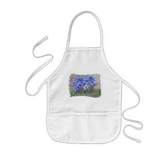 Blue Wildflowers in a Field Fine Art Painting Kids Apron