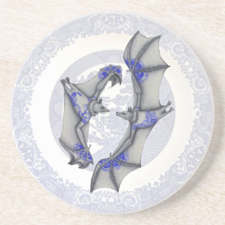 Blue Willow Bats Coaster