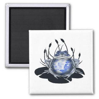 Blue Willow Bull Frog Magnet