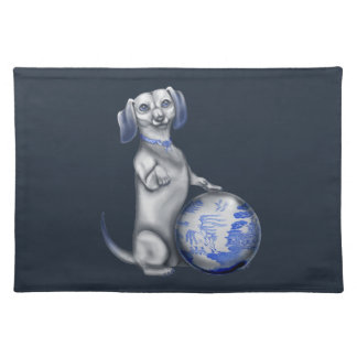 Blue Willow Dachshund Placemat