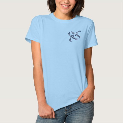 Blue Willow Embroidered Ladies Polo