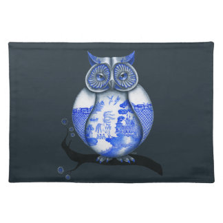 Blue Willow Owl Place Mats