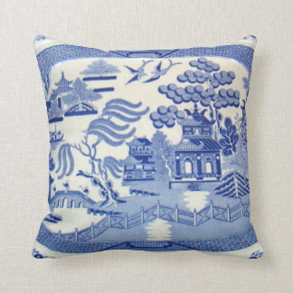 Blue Willow Pillow - The Perfect size and color.