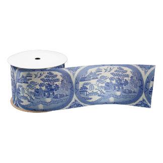 "Blue Willow Satin 3"" Ribbon PERFECT for any Gift Satin Ribbon"