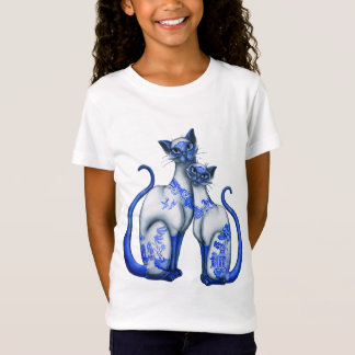 Blue Willow Siamese Cats T-Shirt