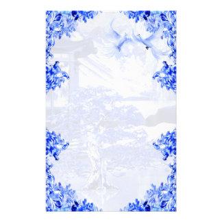 """Blue Willow World"" 15 ~ Elegant Stationery"