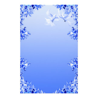 """Blue Willow World"" 16 Personalized Stationery"