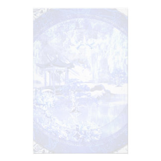 """Blue Willow World"" 3 Custom Stationery"