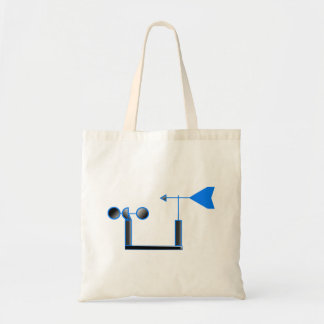 Blue Wind Speed and Weather Vane Canvas Bag