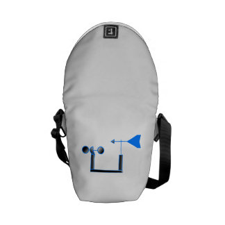 Blue Wind Speed and Weather Vane Courier Bag