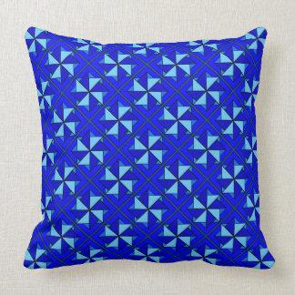 Blue Windmill Patchwork Design Cushion