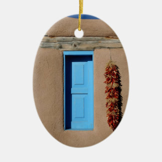 Blue Window of Taos Christmas Ornament