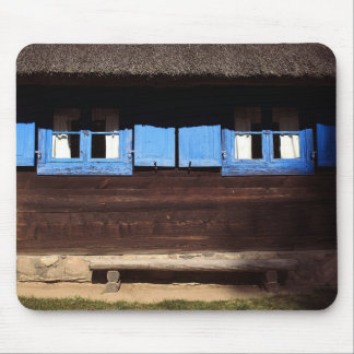 Blue Window Shutters - Mousepad