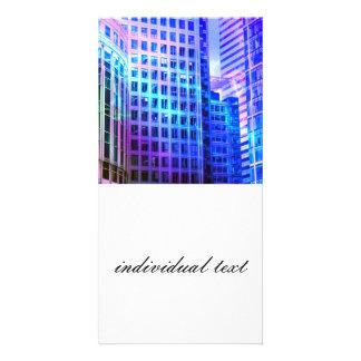 blue windows photo greeting card