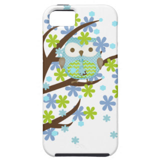 Blue Windy Tree Owl iPhone 5 Case