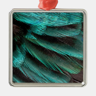 Blue Wing Covert feathers Christmas Ornament