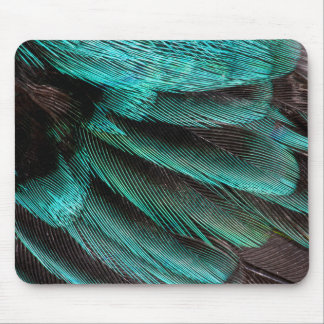 Blue Wing Covert feathers Mouse Mat