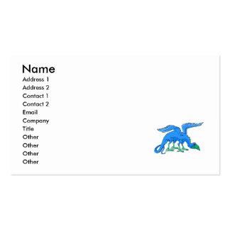 Blue Winged Bird Dragon Business Card Template