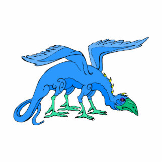 Blue Winged Bird Dragon Cut Out