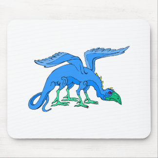Blue Winged Bird Dragon Mouse Pads