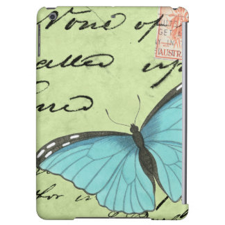 Blue-Winged Butterfly on Teal Postcard