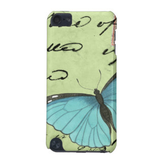 Blue-Winged Butterfly on Teal Postcard iPod Touch (5th Generation) Cases