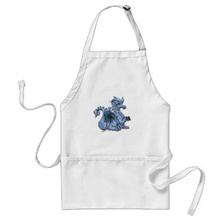 Blue Winged Dragon Apron