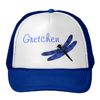 Blue Winged Dragonfly Cap