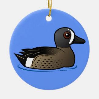 Blue-winged Teal Christmas Ornament