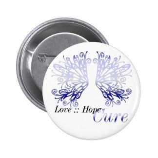 Blue Wings : Love Hope Cure Rheumatoid Arthritis 6 Cm Round Badge