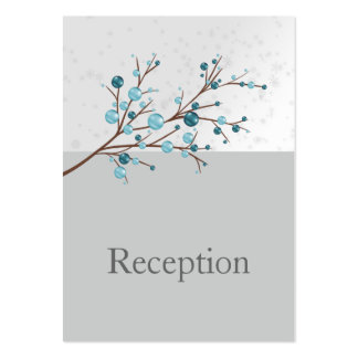 Blue Winter Berries,  Winter Wedding Stationery Pack Of Chubby Business Cards