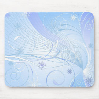 blue winter mouse mat