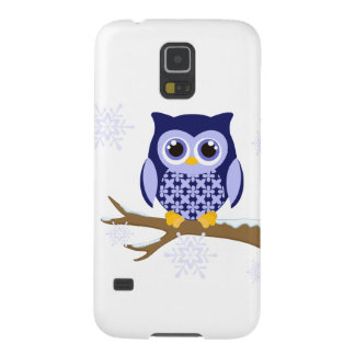 Blue winter owl case for galaxy s5