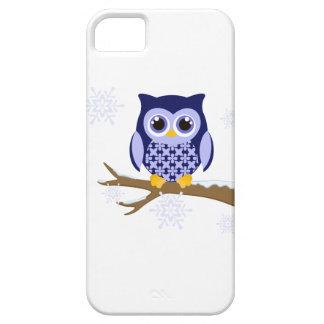 Blue winter owl iPhone 5 case