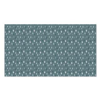 Blue Winter Rain Drops Pattern Business Card Template