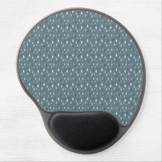 Blue Winter Rain Drops Pattern Gel Mousepad