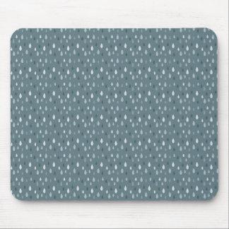 Blue Winter Rain Drops Pattern Mouse Pads