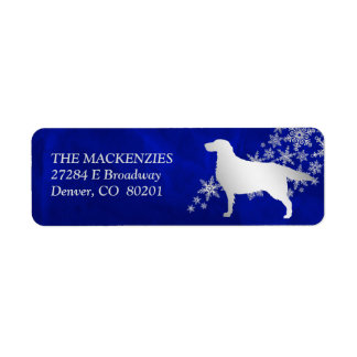 Blue Winter Setter Return Address