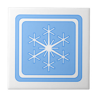 Blue Winter Sign Tile